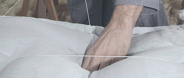 laboratorio produzione materassi in lana